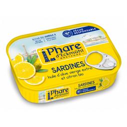 Sardines huile d'olive et citron - 135g