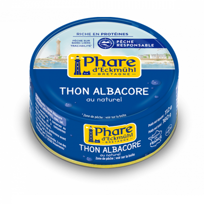 Thon albacore au naturel - 160g
