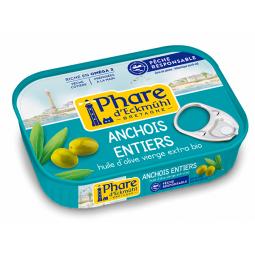 Anchois entiers à l'huile d'olive - 115g