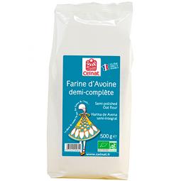 Farine d'avoine demi complète - 500g