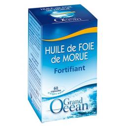 Huile De Foie De Morue - 60 Capsules - Grand Océan - Yves Ponroy