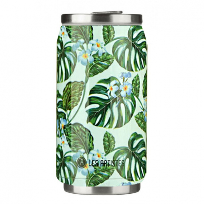 Canette isotherme - Monstera - 280mL