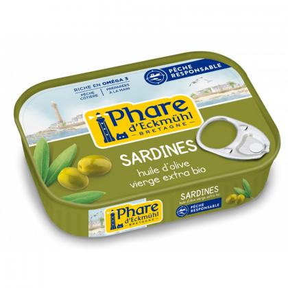 Sardines à l'huile olive bio - 135g