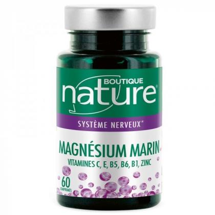 Magnésium marin 60 Comprimés BOUTIQUE NATURE