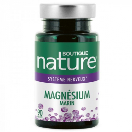 Magnésium marin 90 gélules BOUTIQUE NATURE