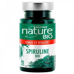 Spiruline Bio 90 Comprimés BOUTIQUE NATURE