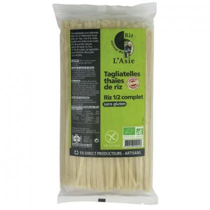 Tagliatelles thaïes de riz 1/2 complet - 400g