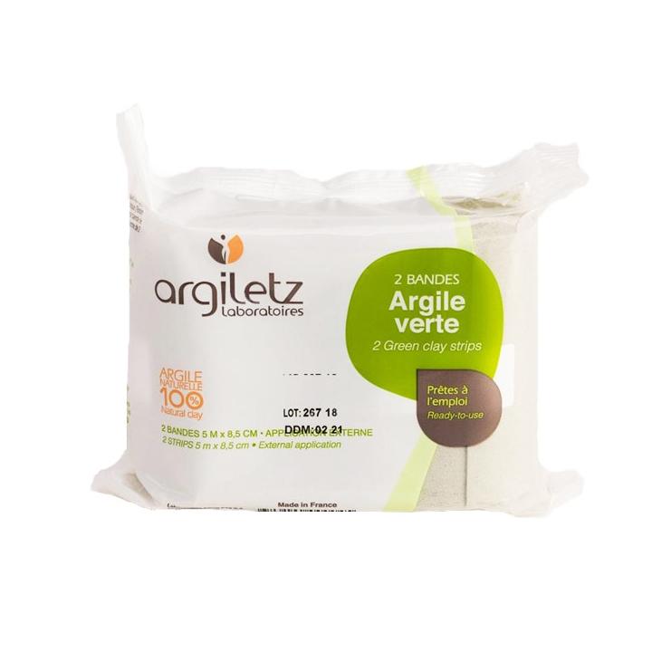 Bandes d'argile verte naturelle - Lot de 2 - Packaging