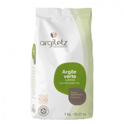 Argile verte surfine - Vrac 1kg - ARGILETZ