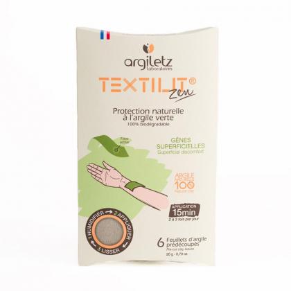 Feuillets d'argile verte Textilit® - Lot de 6 - ARGILETZ