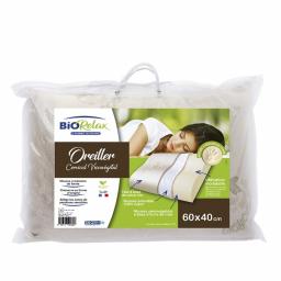 Oreiller cervical viscovégétal - 60 x 40 cm - Packaging