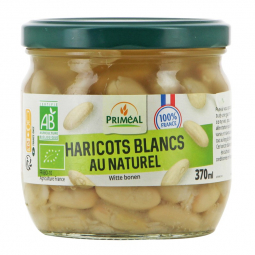 Haricots blancs bio au naturel - 370mL Priméal