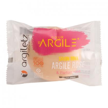 Savon apaisant à l'argile rose - 100g ARGILETZ