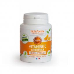Vitamine C liposomale - 60 gélules végétales Nat&Form