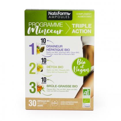 Programme minceur triple action - 30 ampoules Nat&Form