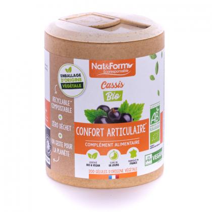 Cassis bio - Confort articulaire - 200 gélules Nat&Form