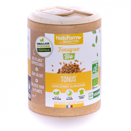 Fenugrec bio - Tonus - 200 gélules Nat&Form
