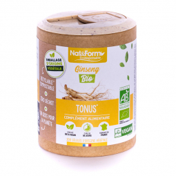 Ginseng bio - Tonus - 200 gélules végétales Nat&Form