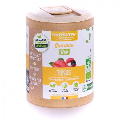 Guarana bio - Tonus - 200 gélules végétales Nat&Form
