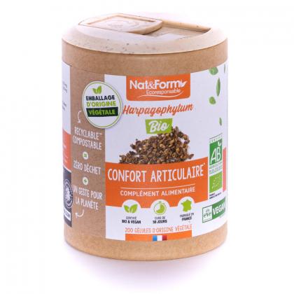Harpagophytum bio - Confort articulaire - 200 gélules végétales Nat&Form