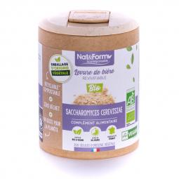 Levure de bière revivifiable bio - Digestion - 200 gélules végétales Nat&Form