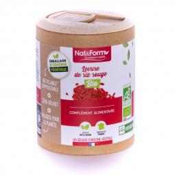Levure de riz rouge bio - Circulation - 120 gélules végétales Nat&Form