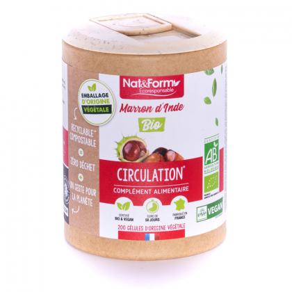 Marron d'Inde bio - Circulation - 200 gélules végétales Nat&Form