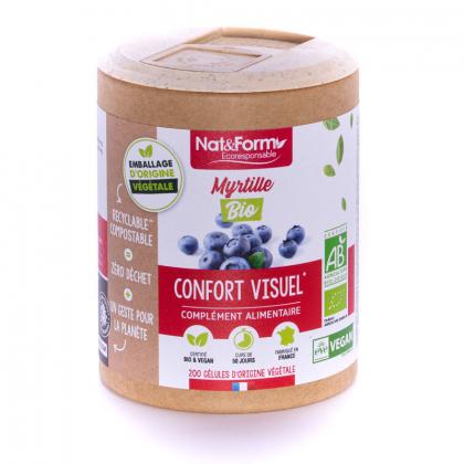 Myrtille bio - Confort visuel - 200 gélules végétales Nat&Form