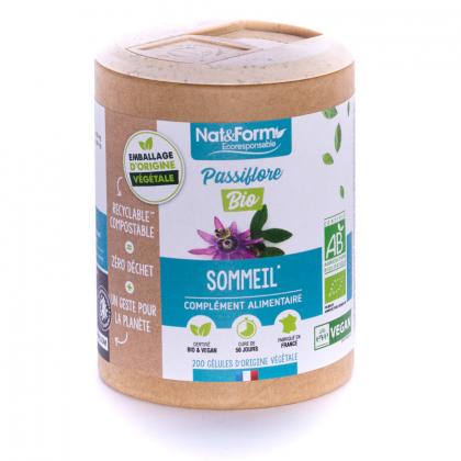 Passiflore bio - Sommeil - 200 gélules végétales Nat&Form