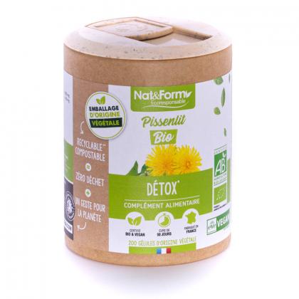 Pissenlit bio - Détox - 200 gélules végétales Nat&Form