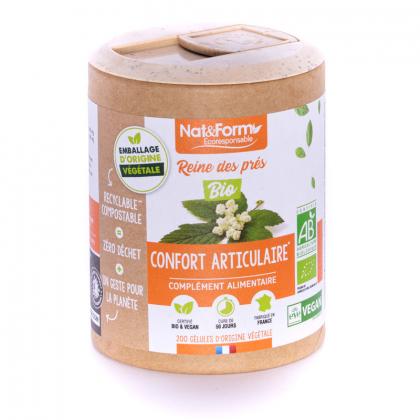 Reine des prés bio - Confort articulaire - 200 gélules végétales Nat&Form
