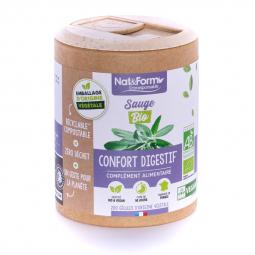 Sauge bio - Confort digestif - 200 gélules végétales Nat&Form