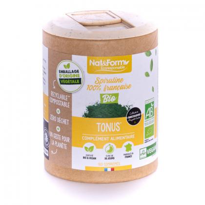Spiruline française bio - Tonus et vitalité - 180 comprimés Nat&Form