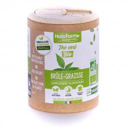 Thé vert bio - Brûle graisses - 200 gélules végétales Nat&Form