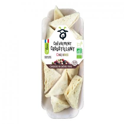 Crackers bio au chèvre frais et cinq baies - 45g Amaltup