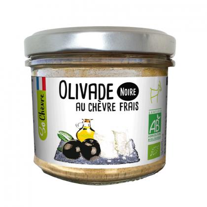 Olivade noire bio au chèvre frais - 90g Amaltup