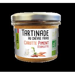 Tartinade bio de chèvre frais, carotte et piment d'Espelette - 90g Amaltup