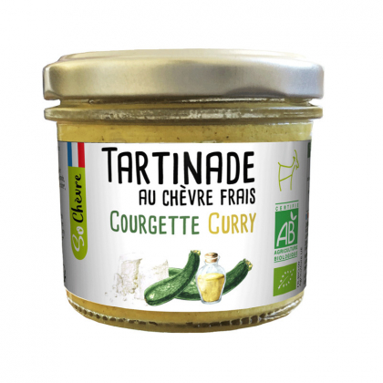 Tartinade bio de chèvre frais, courgette et curry - 90g Amaltup