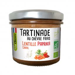 Tartinade bio de chèvre frais, lentille corail et paprika - 90g Amaltup
