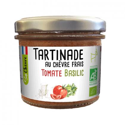 Tartinade bio de chèvre frais, tomate et basilic - 90g Amaltup