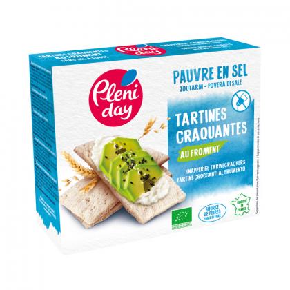 Tartines bio craquantes au froment - Pauvres en sel - 150g