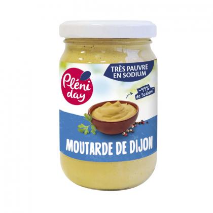 Moutarde de Dijon pauvre en sel - 200g Pléniday
