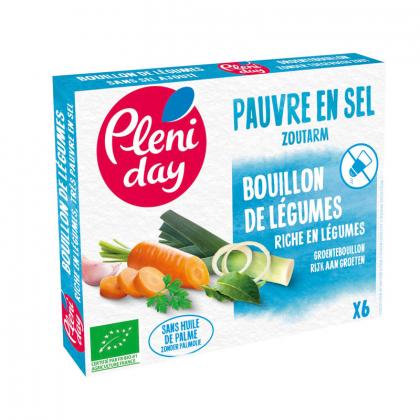 Bouillon de légumes bio pauvre en sel - 54g Pléniday