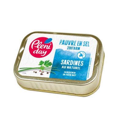 Sardines au naturel pauvre en sel - 115g