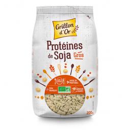 Protéines soja - Gros morceaux - 200g Grillon d'or