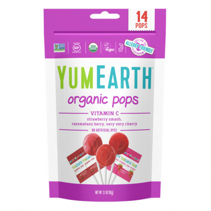 Sucettes bio - Pops fruits rouges - 85g YUMEARTH