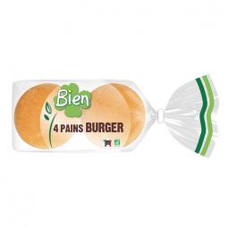 Pains burger bio - Lot de 4 - 200g Bien
