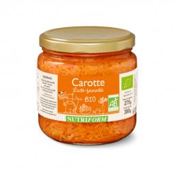 Carottes bio lacto-fermentées - 380g Nutriform