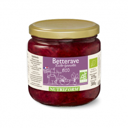 Betteraves bio lacto-fermentées - 380g Nutriform