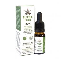 Eutra CBD - Gouttes de CBD à l'huile de chanvre bio 20% - 10mL Interlac